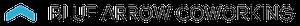 Blue Arrow Coworkin logo skiing in colorado