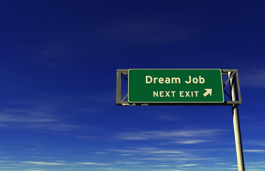 Dream job next exit sign